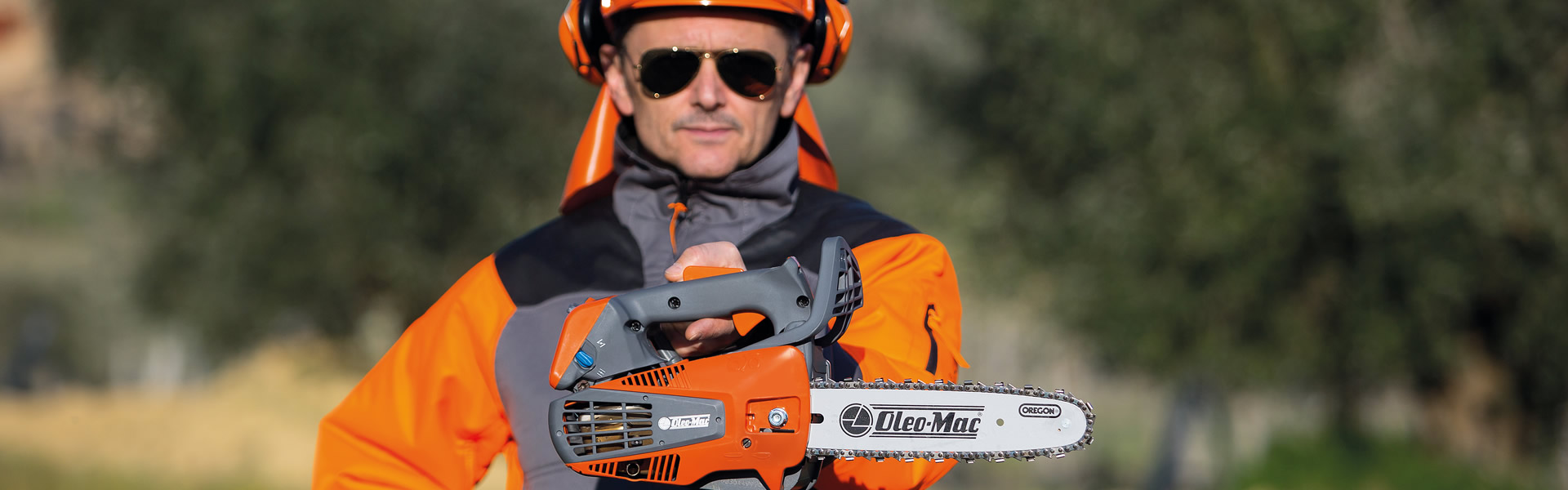 man with a chainsaw